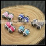 LFD-0054B DIY Druzy Mixed Color Stone Pave Rhinestone Crystal Spacer Beads Jewelry Making