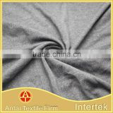 Weft knitted cotton touch polyester rayon spandex T-shirt fabric