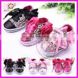 Baby sequin leopard print canvas shoes for kids