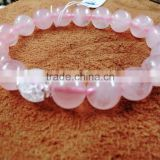 My Girl Friend Gift Lucky Precious Gemstone Bracelet Love Expressive Gift Rose Quartz Bracelet