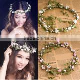 Party Wedding Bridesmaid Floral Flower Festival Forehead Headband Hair Garland H151