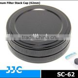 JJC SC-62 62mm Screw-in Metal Filter Stack Cap/Camera Filter case,protecting filters from dust and scratches