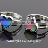 Simple design heart plating silver ring R0005                                                                                                         Supplier's Choice
