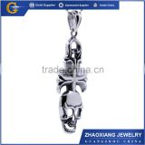 RPC0360 china wholesale 2015 newest hip hop jewelry stainless steel skull pendant