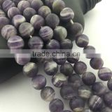 2.0mm Large Hole Hot Selling Round Matte Teeth Amethyst Gemstone Loose Beads Approximate 15.5 Inch