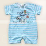 china infant romper baby clothing factory 100% cotton short sleeve summer romper