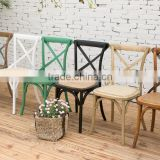 Rental Wooden Cross Back Event Dining Chair