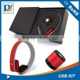 Valentine's Day Occasion &Christmas Holiday Decoration 2 in 1 custom box gift set including bluetooth headphone&speaker