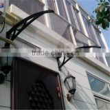 2015 hot!!!!! Large polycarbonate plastic door canopy, sun shade manufacturer of awning