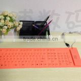 Silicone Keyboard for storage or travel,Flexible Keyboard Flexible Silicone Keyboardfor gift