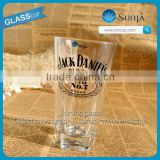 Whisky logo wine brand Print Pint Glass mixing drinks Glass Food safe Daily use Glassware Pint rock glass cup