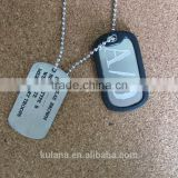 Gangsta A/0 Nicolas Brown Mercenary Dog Tag Necklace Pendant Gangsta Cosplay Titanium Steel Chain Necklace Gangsta Anime Dog Tag