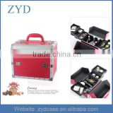 Favorite Rose Red Aluminum Beauty Makeup Kit Case ZYD-HZ101513