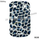 Hot Selling Blue Leopard Skin Hard Case for BlackBerry Bold 9900