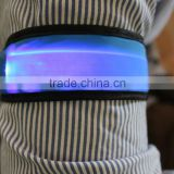 LED nylon slap bracelet reflective slap wraps metal slap bracelets