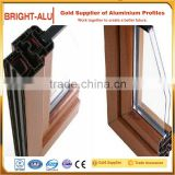 Wood grain color anodized auminum profiles thermal-break window aluminum profiles powder coating anodizing