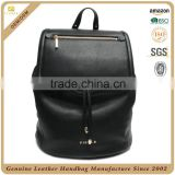 Manufacturer alibaba travel bag fashion women black leather backpack purse