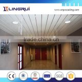 building materials waterproof fireproof 20cm ceiling design silvery line pvc panel ceiling