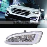 1 Pair Car 12V 12W LED DRL Daytime Running Light Fog Lamp For Hyundai Santa Fe IX45 2013 2014 2015 Auto Parts                                                                         Quality Choice
