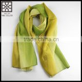 High Quality Gradual Color 100% Silk Scarf