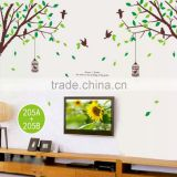 Tree Bird Cage Wall Stickers Removable Art Decal Decor Wallpaper Home Bedroom UK