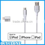 New stylish for apple phone 2 in 1 MFI data sliver cable for turtle brand 100% Brand new high quality materials