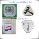 custom logo earphones/for cheap disposable airline train bus/ travel earphone in plastic box