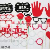 18pcs wedding Decoration Favor Supplies Funny Photo Booth Props Rose Lips Glasses Mustache On Stick Photobooth