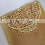 Human hair half wig clip in hair extensions                                                                         Quality Choice