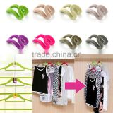 Anti-slip Mini Flocking Clothes Hanger Easy Hook Closet Organizer Home Storage Accessory