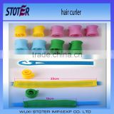 Plastic Small Hair Curler With A Set Hook