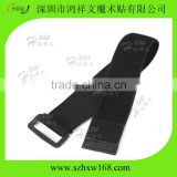 Adjustable reusable fastener buckle elastic hook loop strap
