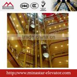gearless sightseeing lift|traction elevator for hotel commercial business parks|observation glass convey device lift