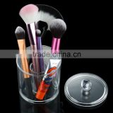 Cylinder Transparent Plastic Lipstick Makeup Brush Tools Storage Box Case Cosmetic Organizer