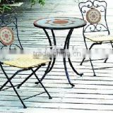iron folded outdoor bistro table and chair furniture