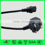 Electric Power Source and VDE BSI Certification Europe BS electrical plug ac power cord cable with IEC C13 connector