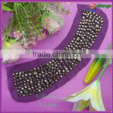 2015 wholesale fashion crystal embroidery beaded collar trims design for garment accessory