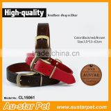 2016 New Fashion Portable Pet Product Medium First Class Adjustable Leather Collars for Dogs