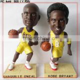 "Custom NEW Cool 4inch player bobble head toy/4"" plastic bobblehead toy resin bobble head figure custom made in China"