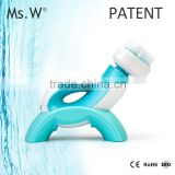 2016 New Arrival Ms.W Electric facial cleansing brush as seen on tv with variable rotation head