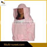 Ventilated Color Cotton Beekeeper Protective Suits Jacket with Helmet