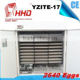 Hot selling CE marked HHD brand automatic egg incubator hatching machine for sale YZITE-17