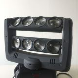 4in1 led spider moving head beam light 8pcsx10w mini moving head led wash moving head light