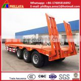 heavy vehicle 3 axle low bed truck semi trailer and used extendable low bed trailer 100 ton dimensions
