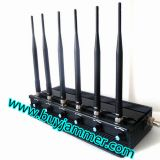Adjustable 6 Antenna 15W High Power WiFi GPS Mobile Phone Signal Jammer