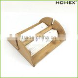 Bamboo Paper Napkin Holder Cocktail Napkin Caddy Homex BSCI/Factory