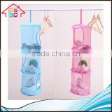 NBRSC Wholesale Foldable 3 Tier Hanging Mesh Bags Space Saver Organizer Toys Storage Basket for Kids Room Organization
