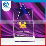 Jingyage unique blue star crystal award crystal plaque star trophy souvenir gift