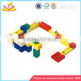 Wholesale creative wooden building blocks track toy brain training wooden blocks track toy W13A019