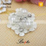 Wholesale vintage decorative bead rhinestone center handmade plastic applique for women dress